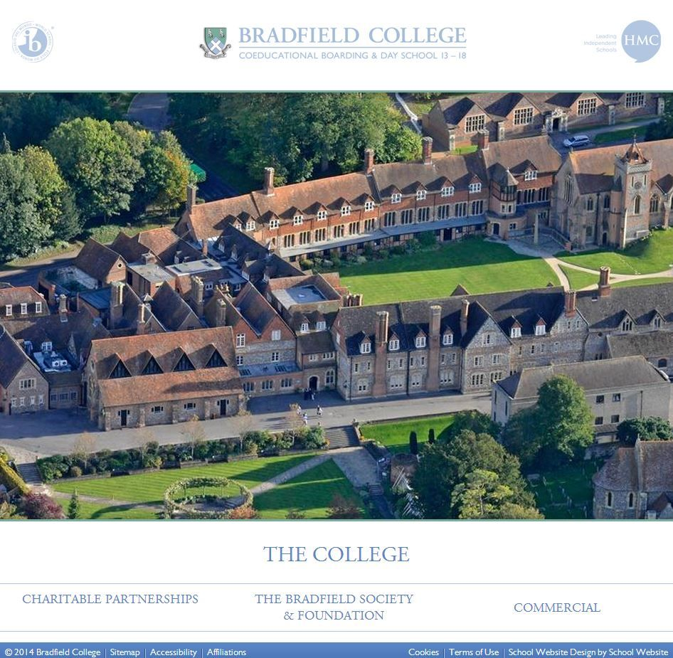 Bradfield College have launched their new website which features a simple yet stylish design http://www.bradfieldcollege.org.uk/ #collegewebsites #schoolwebsites