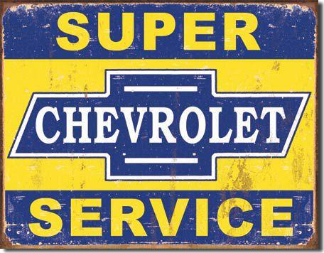 Chapa metálica decorativa Chevrolet Decoración americana www.usamericanshop.com #cartelvintage