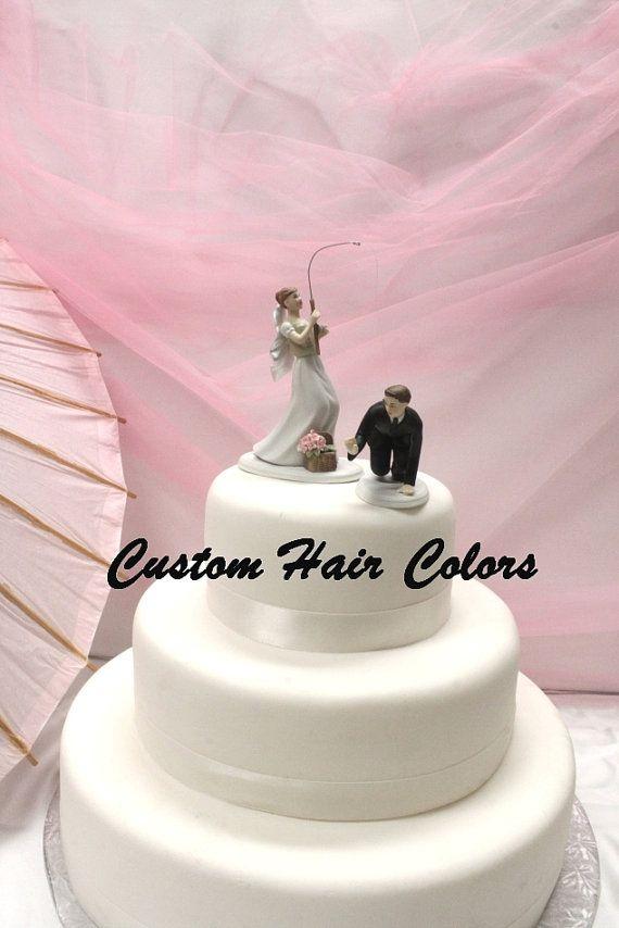 Custom Wedding Cake Topper Fishing Bride And Groom Fishing