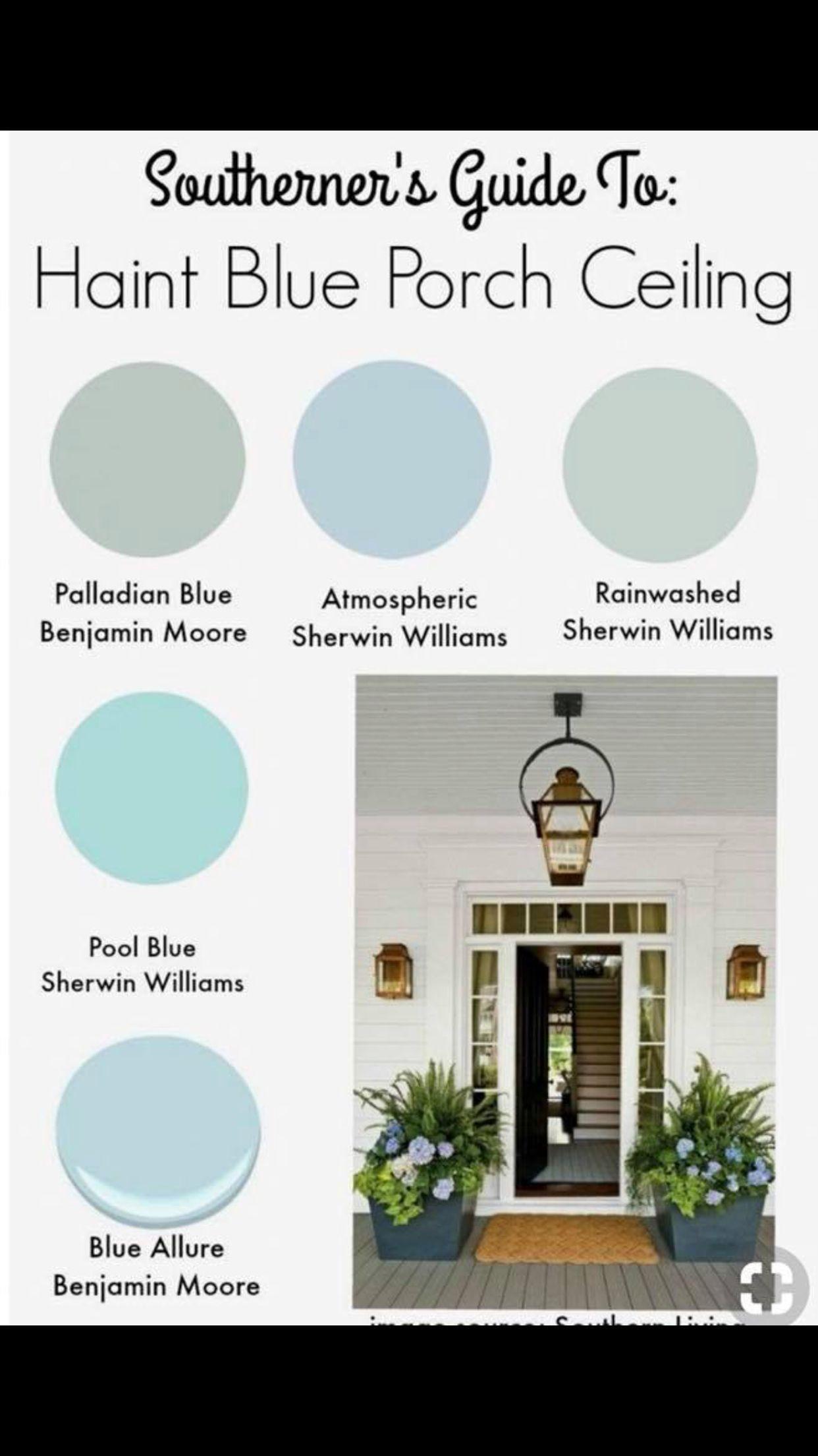 Pin By Gordana Goga Tudor On Flower Blue Porch Ceiling Haint