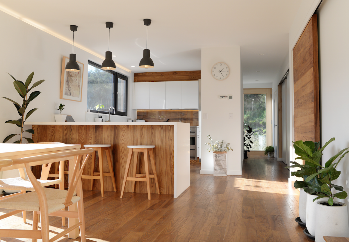 Climate House Kitchen Wooden Flooring Ikea Build Me Eco Home