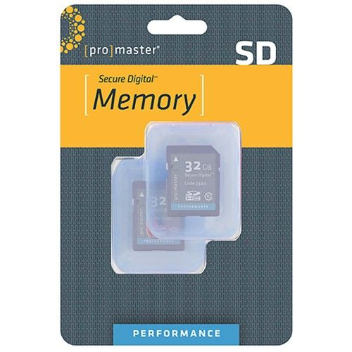 ProMaster 32GB Sdhc 2-pack Class 10 Performance Memory Card