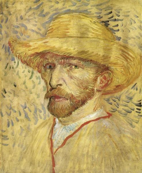 Vincent Van Gogh - Self Portrait Straw Hat