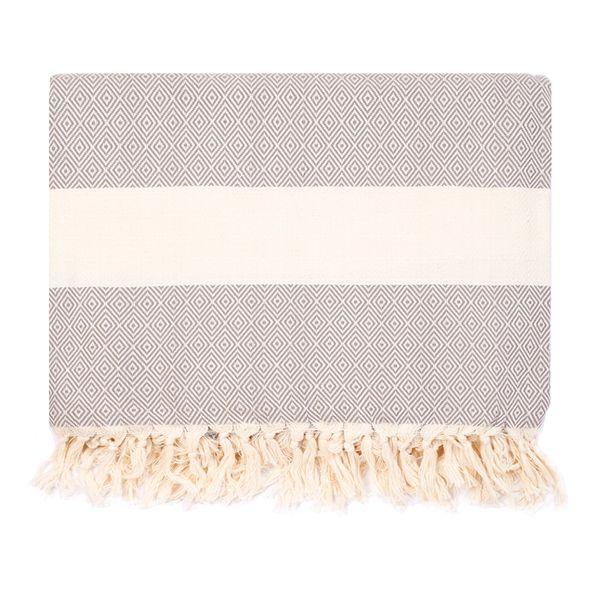 Diamond Blanket, Grey/Ecru // whitesmercantile.com