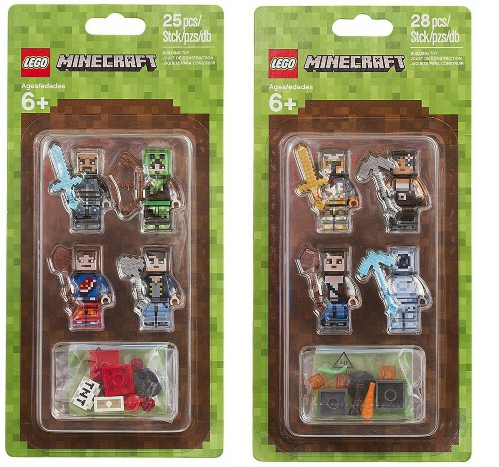 Cheap Sale Single Sale Hot Minecrafted Action Figures Animals Toys Steve Alex Compatible Legoing Dragon Diy Series Minecrafted Blocks Beautiful And Charming Toys & Hobbies