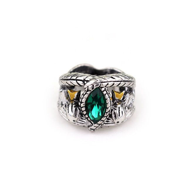 USA Lord of Rings LOTR Aragorn/'s Ring of Barahir Mens Crystal Ring Size 6-10