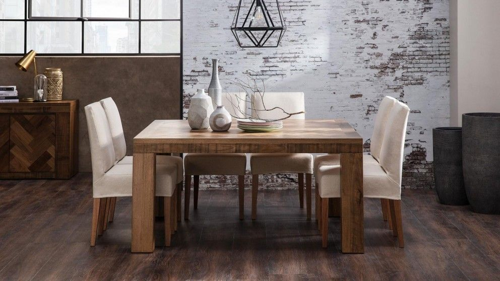 Neva Low Slip Cover Dining Chair Domayne Au