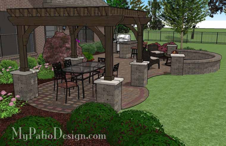 700 Sq. Ft. Of Outdoor Living Space. Curvy Design Creates