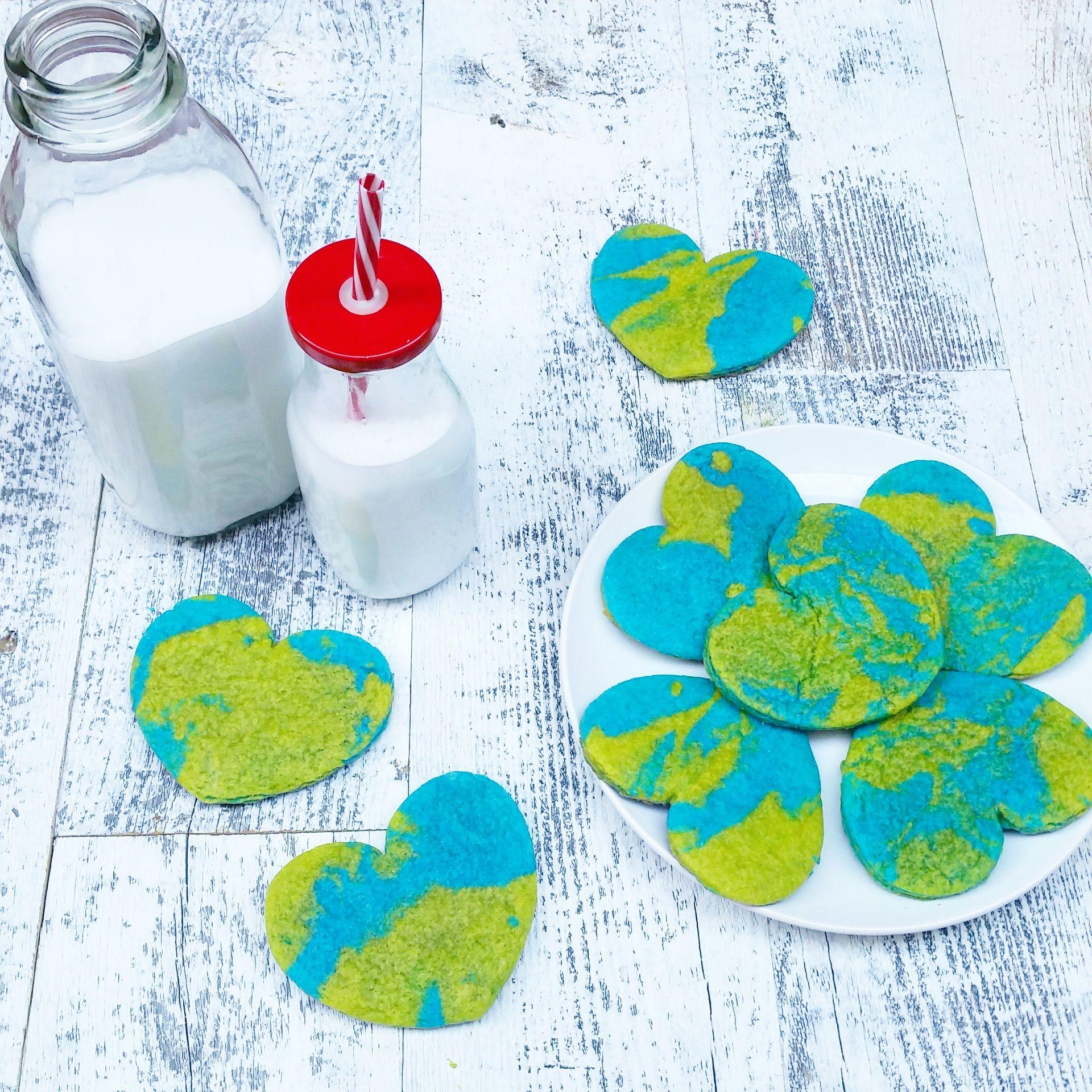 Heartshaped Earth Day Cookies