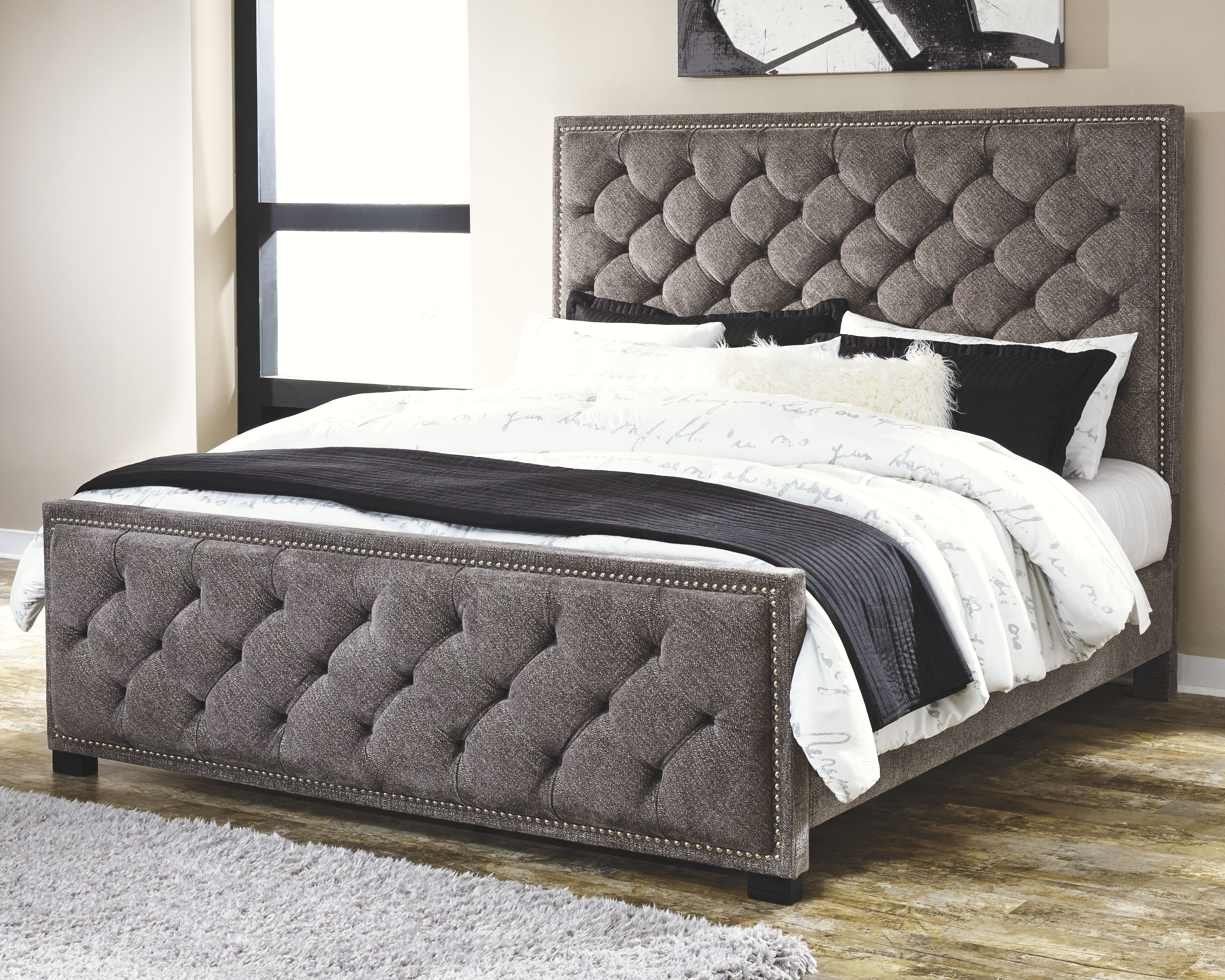 Best Halamay Cal King Upholstered Bed Queen Upholstered Bed 400 x 300