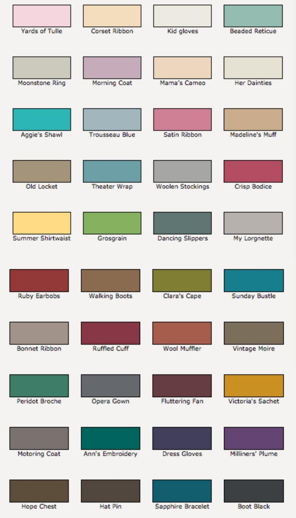 Easy Rustoleum Chalk Paint Colour Chart