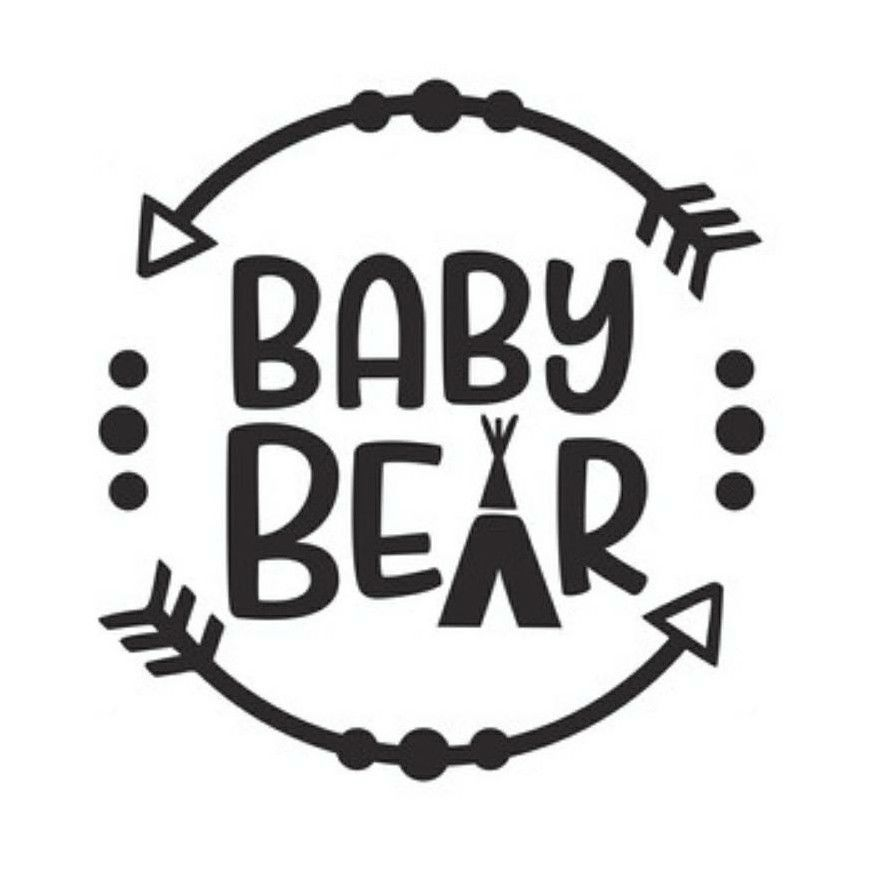 Baby Bear Vinyl Decal Stickers For Tumblers Cars Walls Cups V55