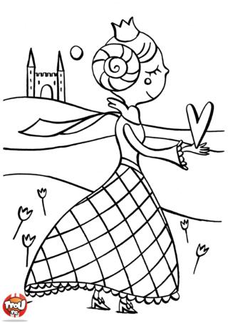 Coloriage la princesse de coeur games of throne - Coloriage princesse chateau ...