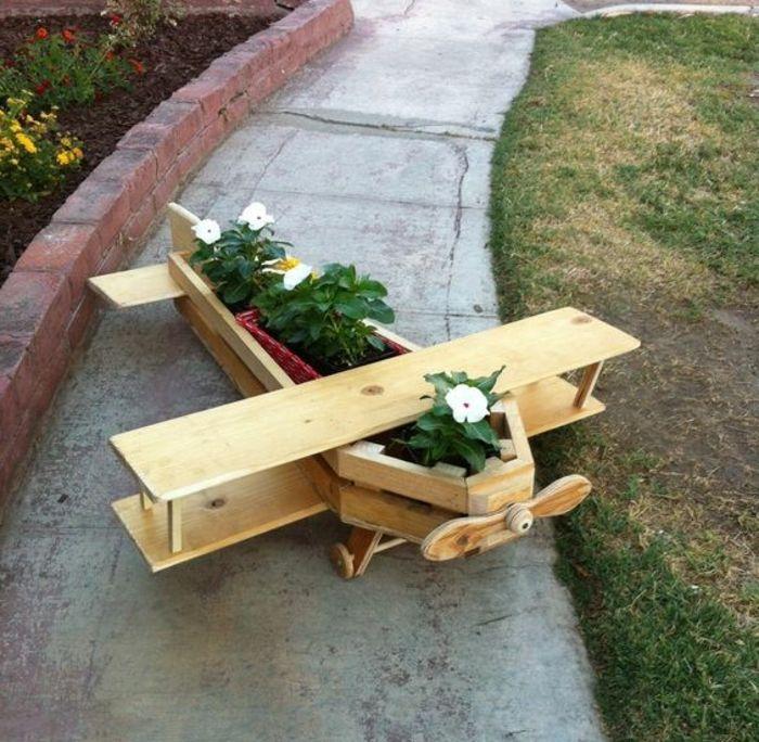 1001 tutoriels et id es pour fabriquer une jardini re en palette planches de bois jardins - Jardiniere en palette ...