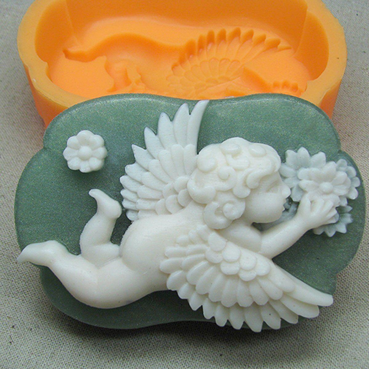 Chawoorim craft silicone molds resin handmade soap making baby angel