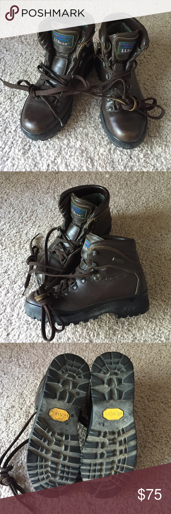 L. L. Bean hiking boots Very good condition, lots of wear left! Have two pairs and don't need both. L.L. Bean Shoes Lace Up Boots