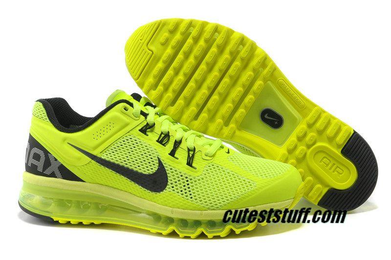 innovative design 12143 b68a1 Mens Nike Air Max 2013 Volt Black Shoes  Volt  Womens  Sneakers