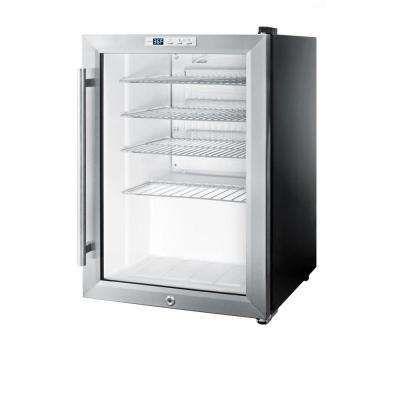 25 Cu Ft Glass Door Mini Refrigerator In Black 174 Hudson