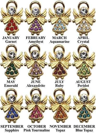 Colors Of Birthstones Birthstone Chart Click By Month Color