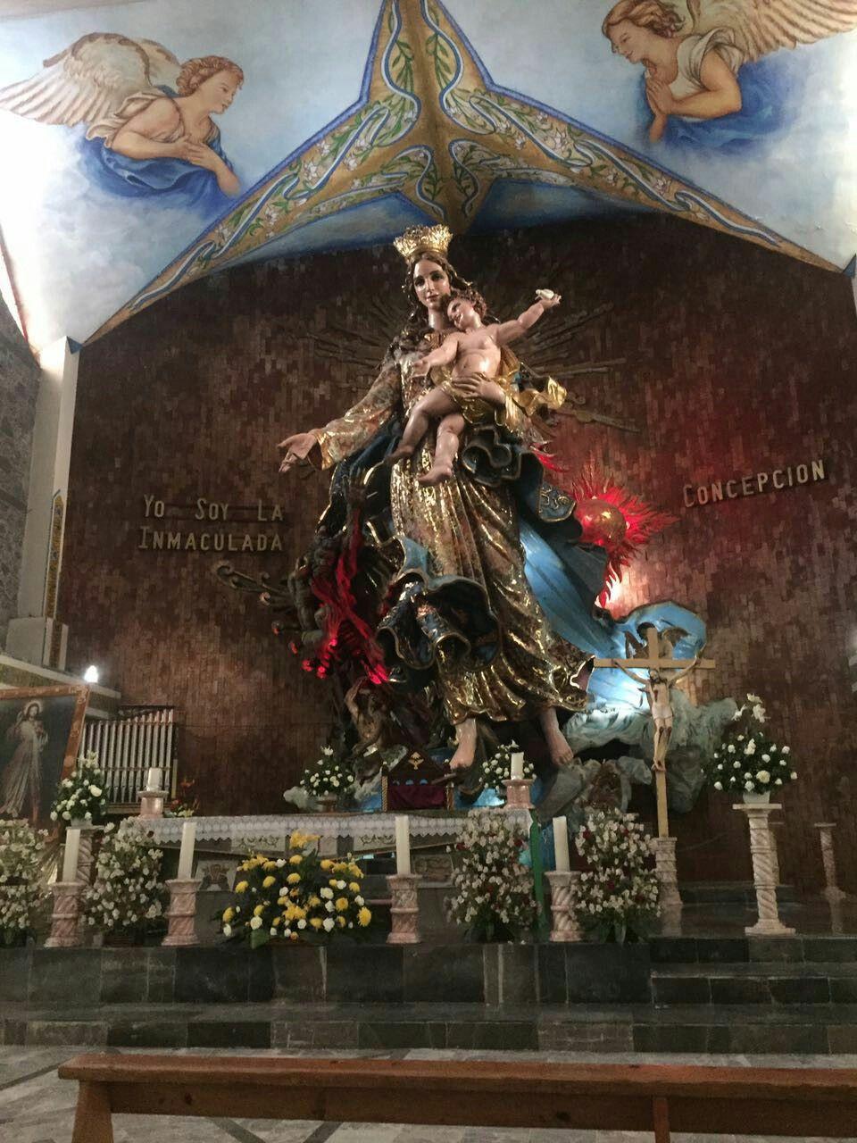 Virgen Inmaculada Concepción con 12 m de altura en Chignahuapan