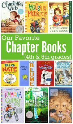 Favorite Chapter Books For Kids In 4th And 5th Grades Pinterest