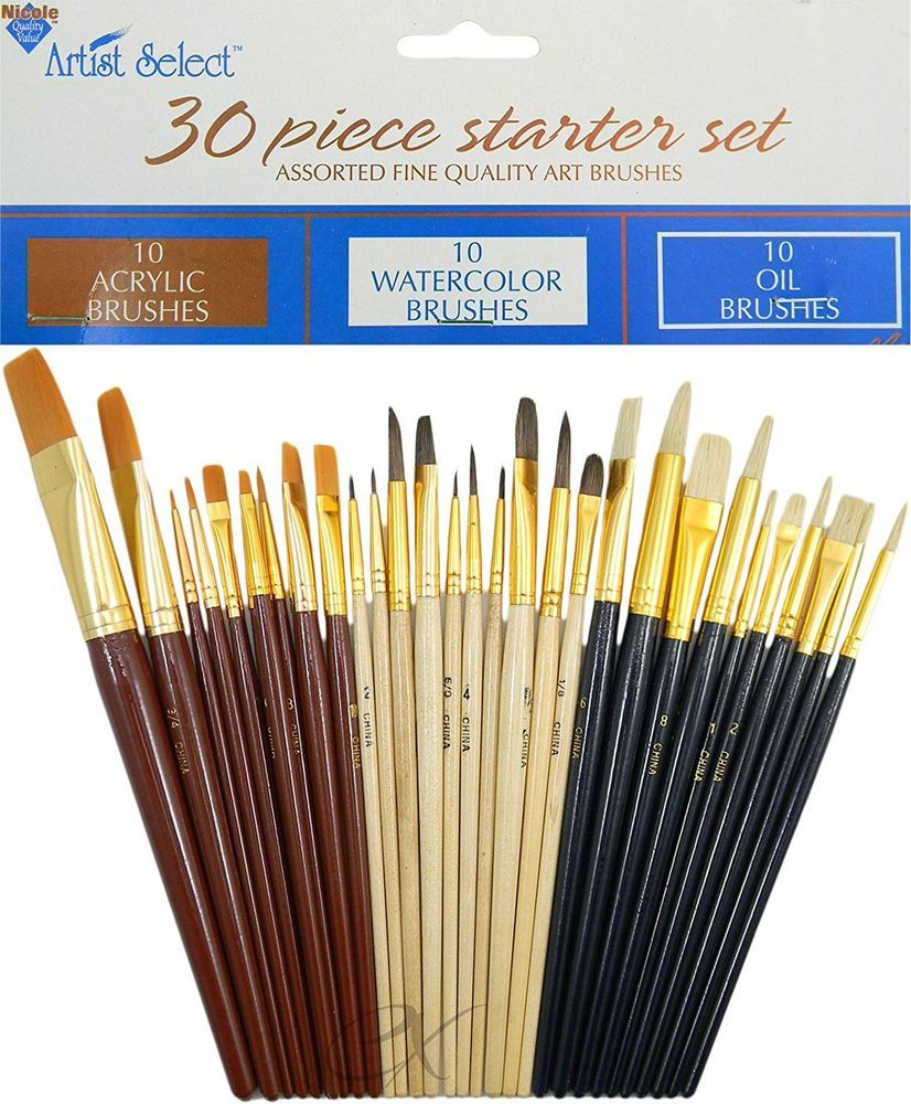Fine Art Acrylic Paint Brushes Art Supply Painting Equipment