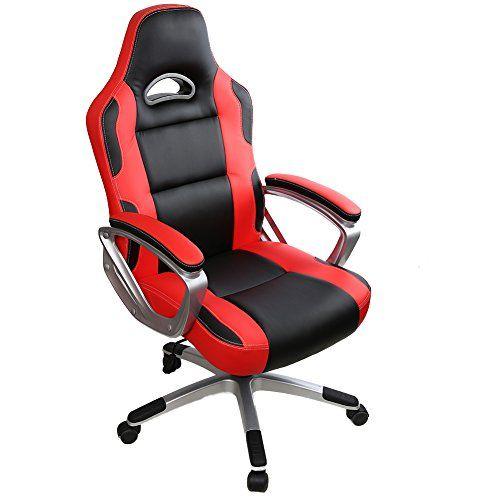 iwmh racing chaise de bureau gaming si ge baquet sport fauteuil ergonomique professionnel. Black Bedroom Furniture Sets. Home Design Ideas