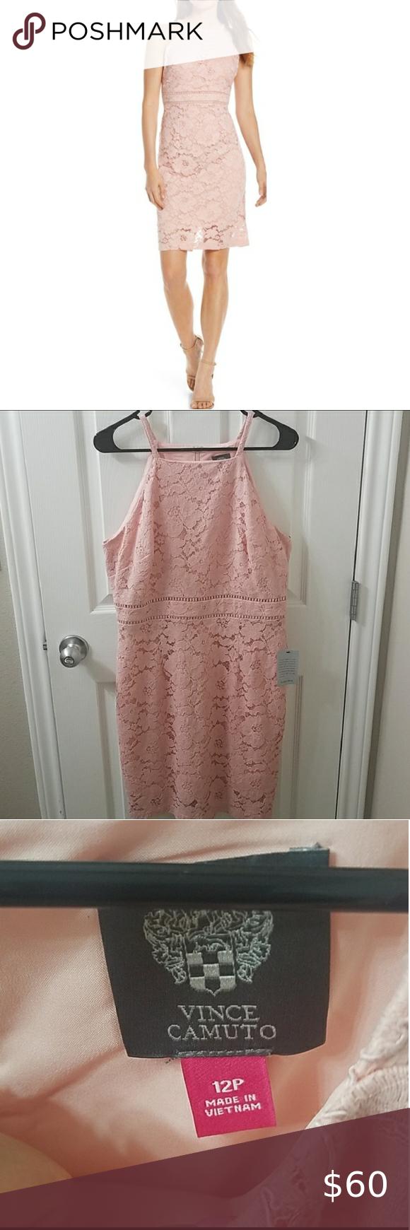 Vince Camuto Lace Sheath Dress Blush Pink Dresses Clothes Design Lace Sheath Dress [ 1740 x 580 Pixel ]
