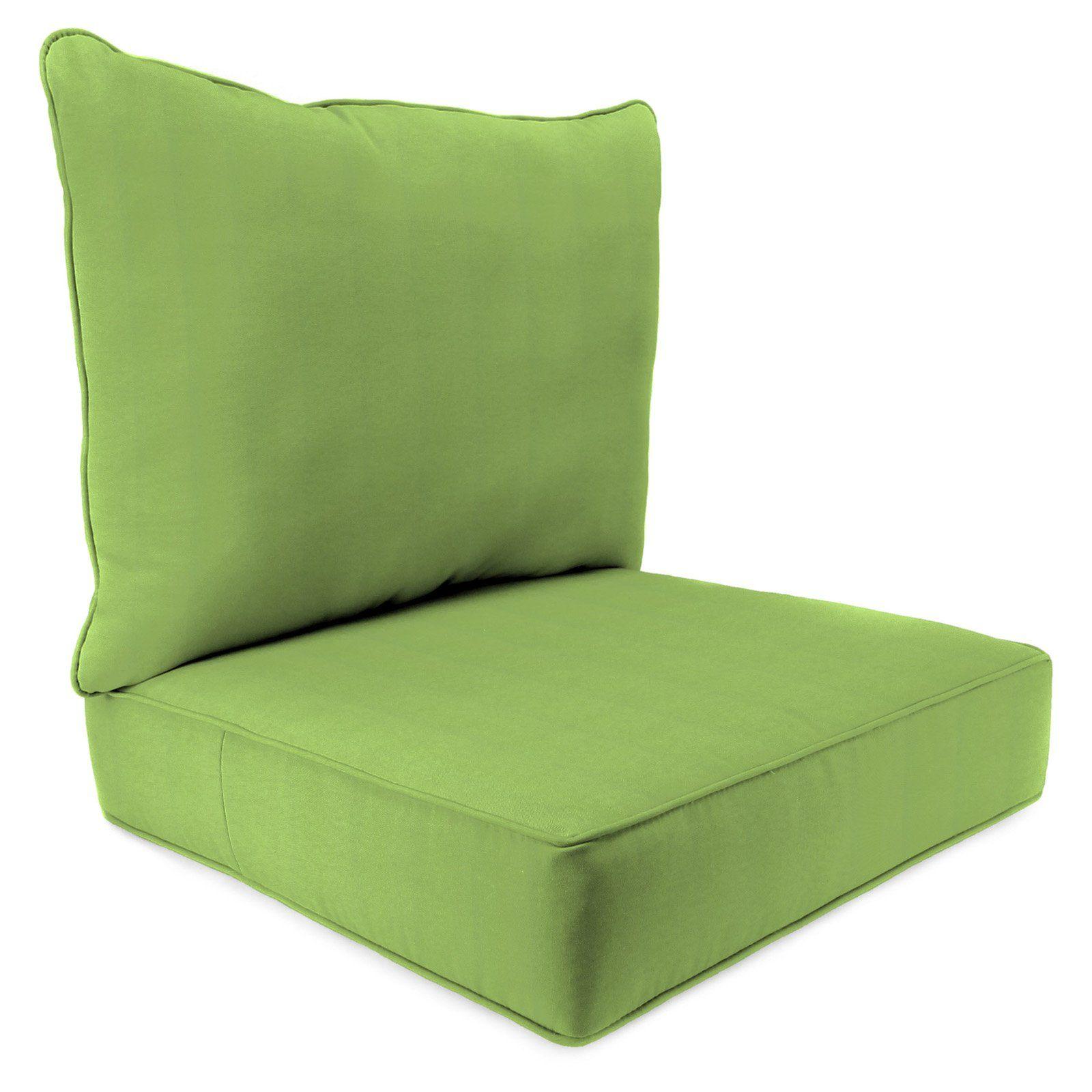 Jordan Manufacturing Sunbrella 2 Piece Outdoor Deep Seat Chair