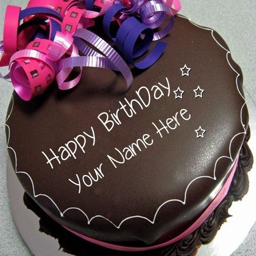 Happy Birthday Chocolate Cake With Name Download Pic Edit And Online Maker For Wish