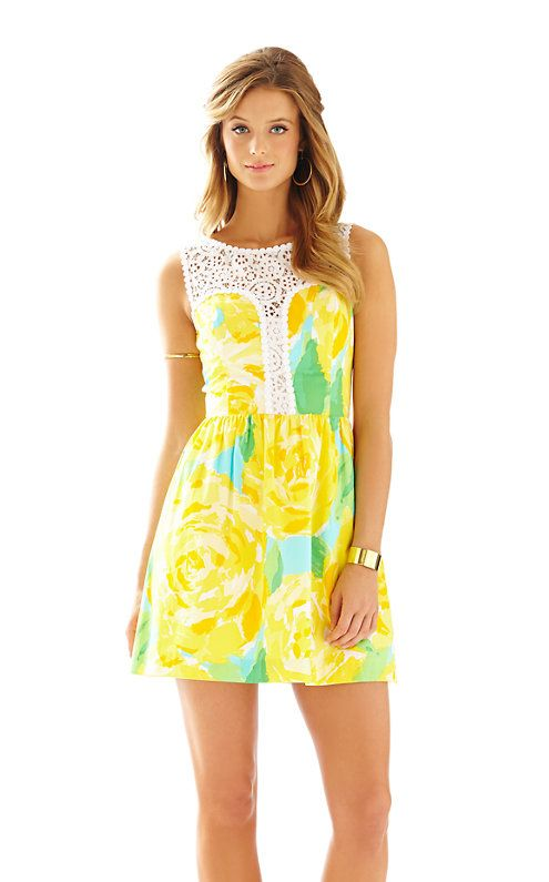 31d716bf9c33 Yellow Lilly Pulitzer Dress | Style | Flare Dress, Fit flare dress ...