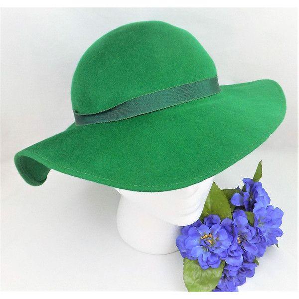 Tapered Wide Brim Wool Felt Hat 9cd78264ed1a