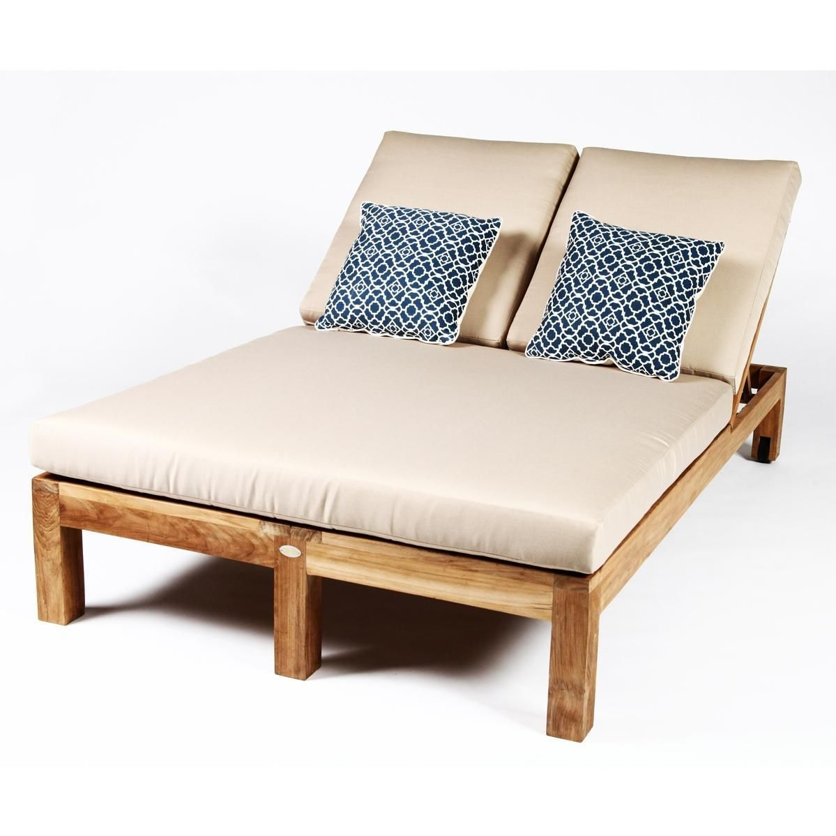 Double Chaise Lounge Chair Lanai