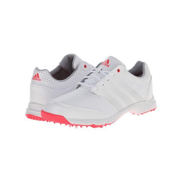 Adidas  mujer 's Golf respuesta Luz Blanco / Rosa blanco / Rosa / Golf fe6127