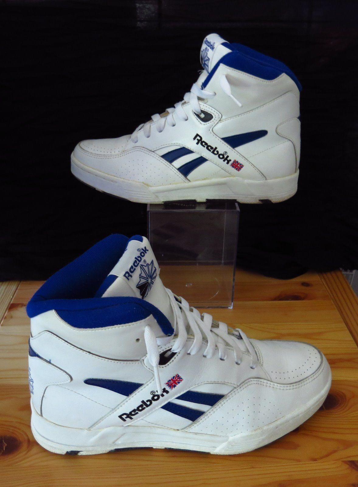 d3cf36f09c07b Vintage Reebok BB 4600 Ultra Hi 4 6336 White Royal Blue Black Men s US Size  7