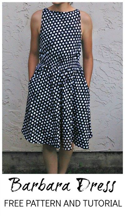 FREE SEWING PATTERN: Barbara Dress pattern - On the Cutting Floor ...
