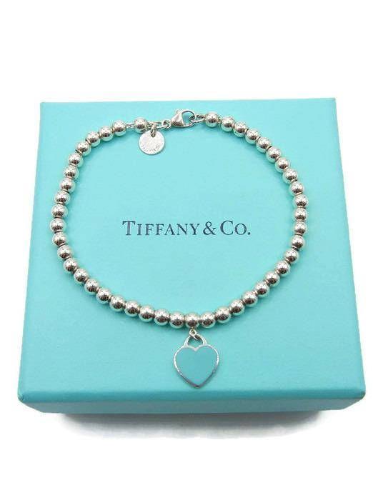 dffc85e04 Authentic Tiffany & Co Blue Heart Bead Bracelet Sterling   Jewelry ...