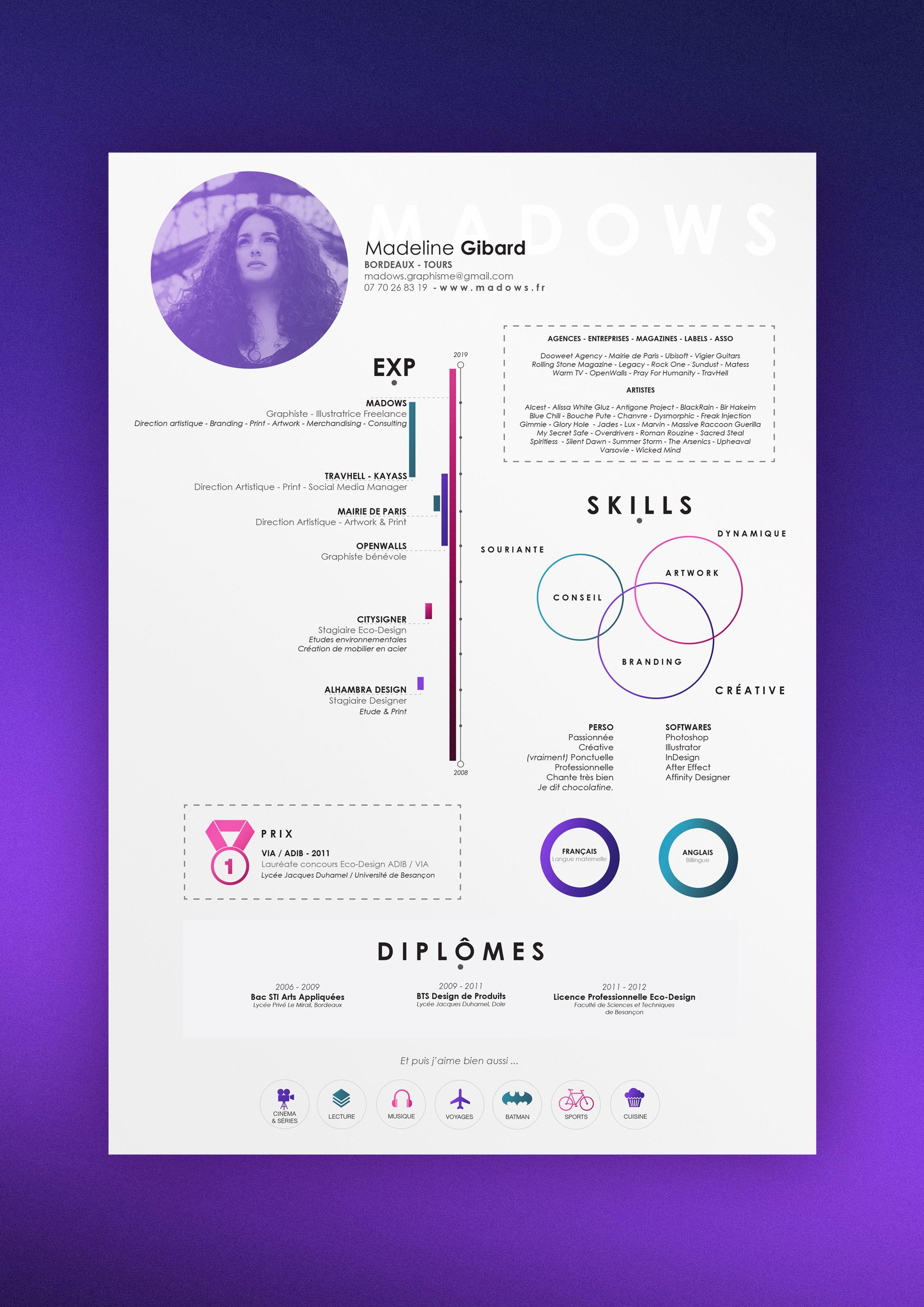 Graphic and soft Graphic Designer Resume 2019 (avec images
