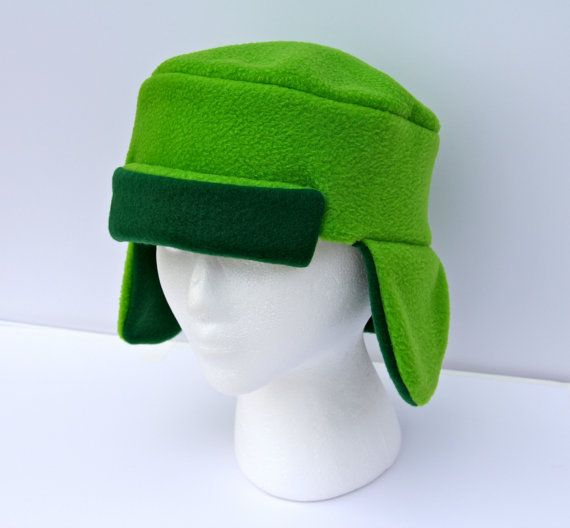 5124a589ac9b6 Cosplay South Park Inspired Green Ushanka by indiesommer2 on Etsy ...