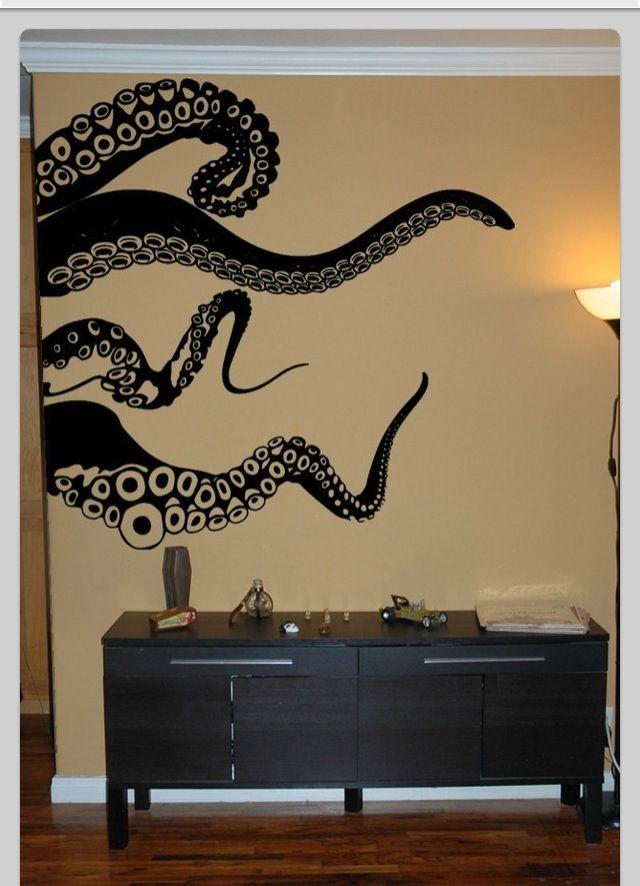 Genial Large Kraken Octopus Tentacles Vinyl Wall By Pillboxdesigns.would Be  Kickass In The Bathroom, Or Some Other Tentacle/kraken Design
