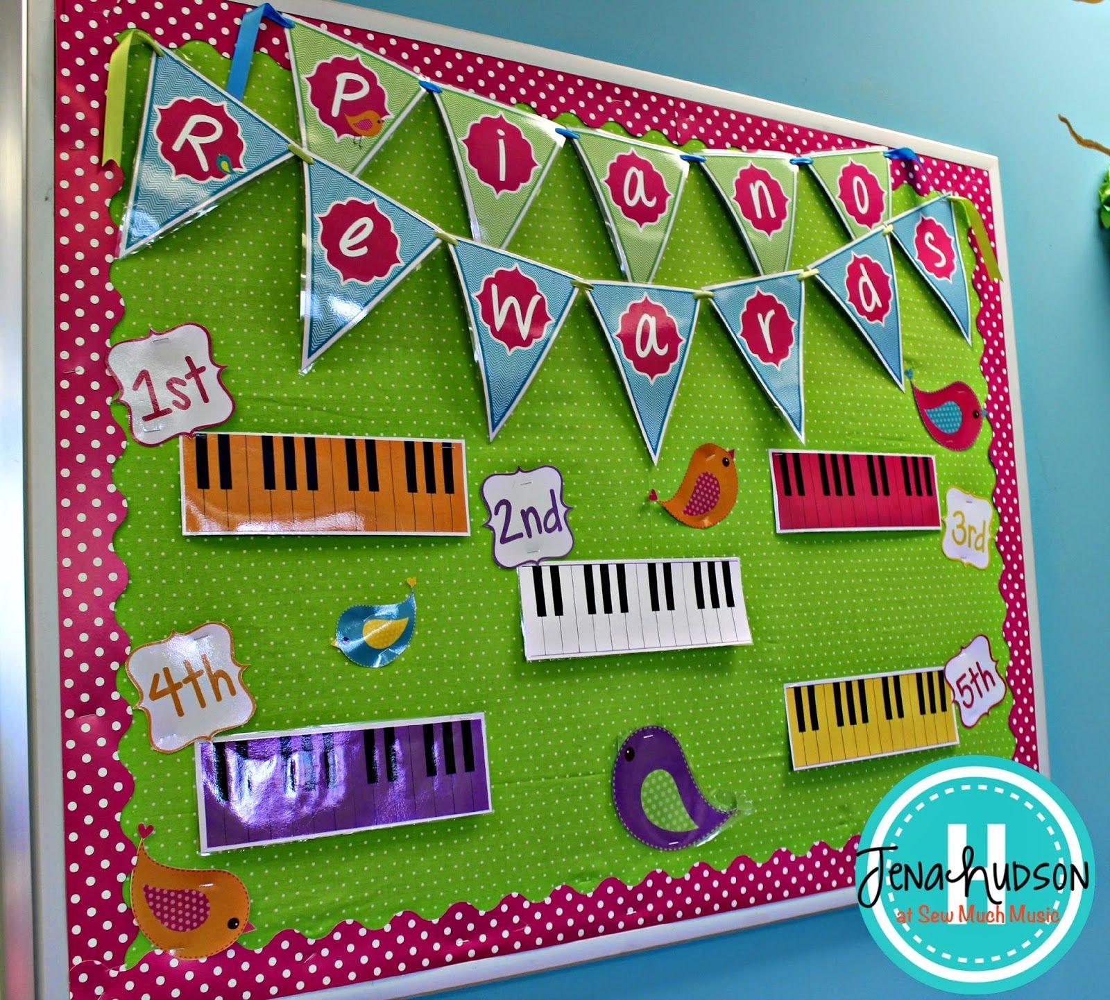 Classroom Reward Ideas For Elementary ~ Sew much music elementary reward bulletin board