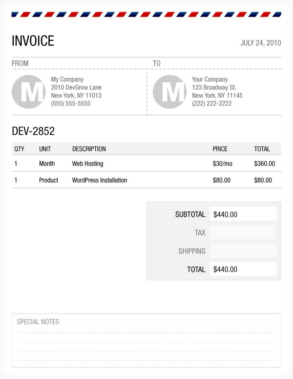 Cute Photoshop Invoice Template that Iu0027ve used for freelance gigs - sample freelance invoice