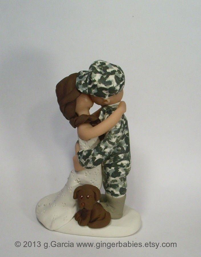 Custom Army Wedding Cake Topper Custom Military Wedding