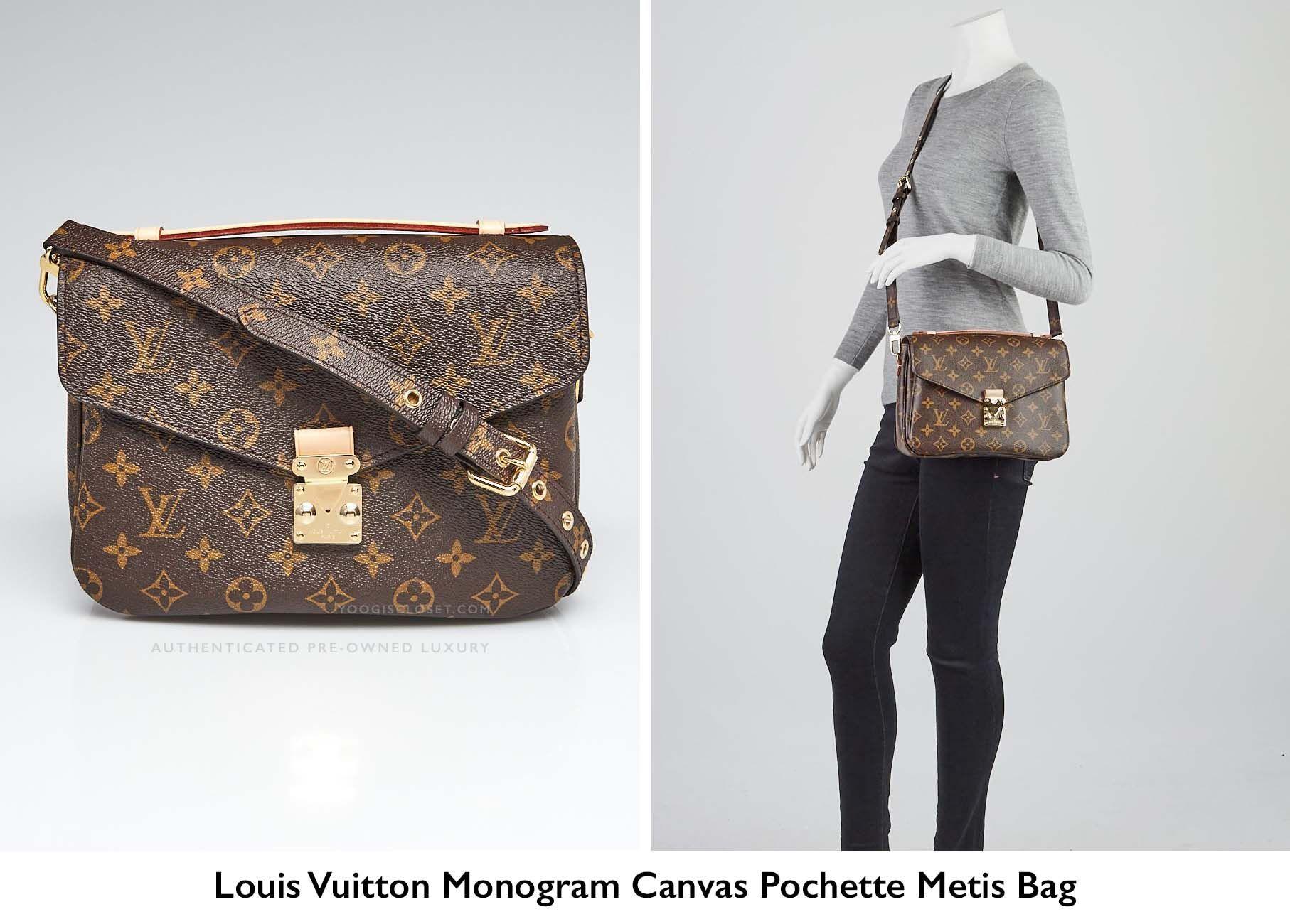 Are Louis Vuitton Bags Made In Usa Yoogis Closet Blog >> Louis Vuitton Monogram Canvas Pochette Metis Crossbody Bag