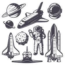 Space Shuttle Clipart Google Search Vintage Space Monochrome Fashion Digital Design Trends