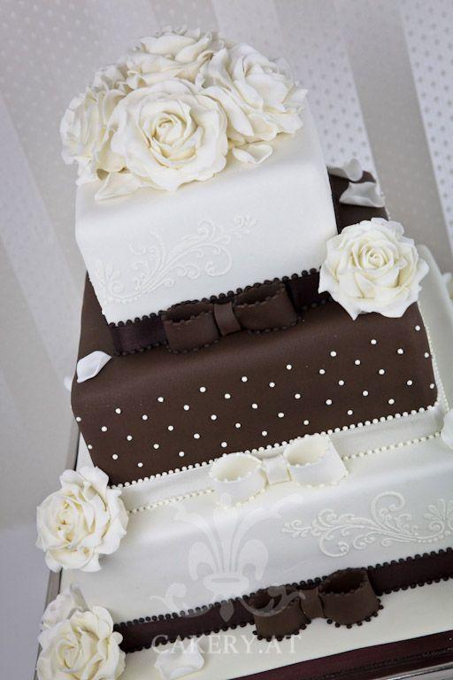 hochzeitstorte in wei und braun wedding cakes pinterest hochzeitstorte torte hochzeit. Black Bedroom Furniture Sets. Home Design Ideas