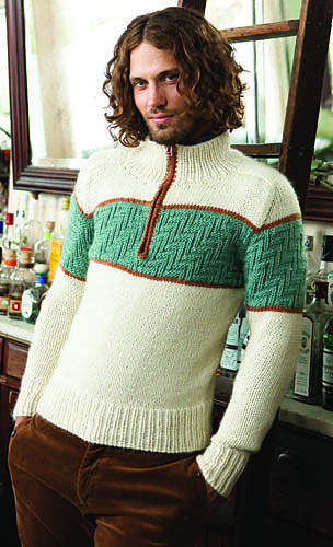Textured Stripe Pullover pattern by Josh Bennett