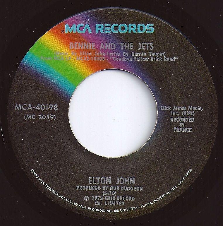 Bennie And The Jets Elton John 1 On Billboard Music Memories Vinyl Music Oldies Music