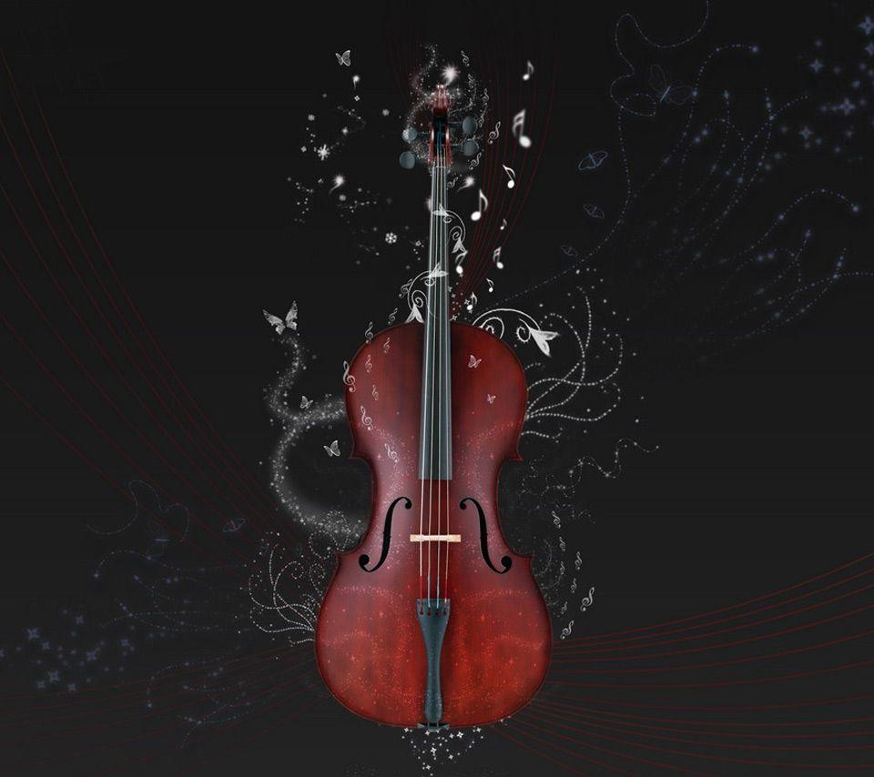 Violin Wallpaper: Cello Under Water Instrument Wallpaper