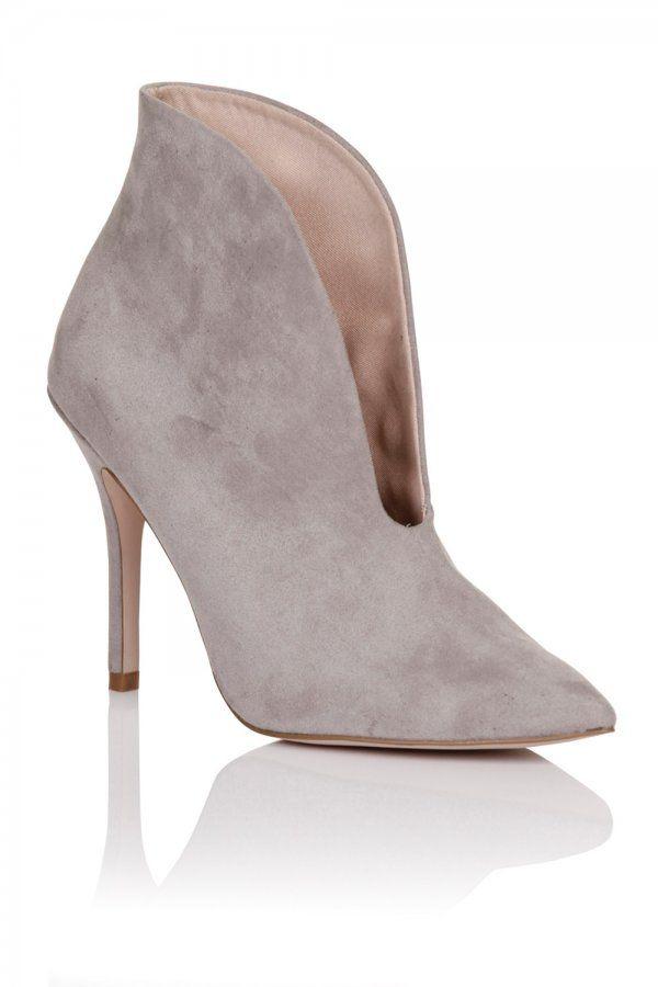 9ef0c8eda Paper Dolls Footwear Grey Gap Curve Heel Boot - Paper Dolls Footwear from Little  Mistress UK